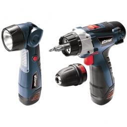 Купить Набор аккумуляторных инструментов Stomer SAD-10,8x2-LtD