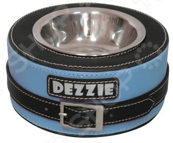 Миска для собак DEZZIE «Круг». Цвет: синийМиски для собак<br>Миска для собак DEZZIE Круг это удобная миска для вашего домашнего питомца. Конструкция миски позволит питомцу не напрягать шею во время принятия пищи, при этом чувствовать себя более комфортно. Миска имеет особенный дизайн, который отлично впишется в интерьер, не занимая много места. Чехол из искусственного нубука, обладает высокой стойкостью к свету и к механическим повреждениям. Легко моется и высыхает.<br>