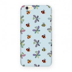 фото Чехол для iPhone 6 Mitya Veselkov «Стрекозы и пчелы». Цвет: голубой