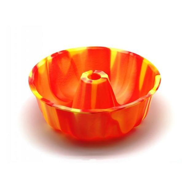 фото Форма для выпечки силиконовая Atlantis «Шарлотка» SC-BK-002M. Цвет: желтый, оранжевый