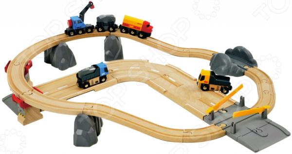 Железная дорога Brio «Автодорога и переезд»