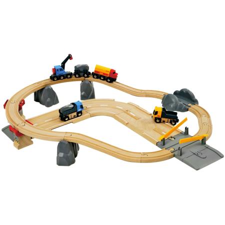 Купить Железная дорога Brio «Автодорога и переезд»