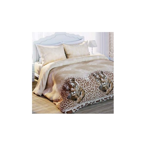 фото Комплект постельного белья с эффектом 3D Любимый дом Тигр. 2-спальный