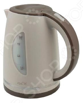 Чайник Smile WK 5305Чайники электрические<br>Удобный и простой в использовании чайник Smile WK 5305 изготовлен из высококачественного термостойкого пластика. Благодаря высокой мощности и спиральному нагревательному элементу, он быстро вскипятит воду объемом до 1,7 литров. На рынке бытовой техники этот прибор пользуется неизменной популярностью благодаря высокому качеству, безопасности и удобству в использовании. Модель оснащена световым индикатором включения выключения, наглядной шкалой уровня воды и съемным нейлоновым фильтром против накипи. Цоколь с центральным контактом позволяет поворачивать прибор на 360 . Кабель удобно хранить в подставке. В целях безопасности предусмотрена защита от перегрева. Благодаря стильному дизайну, чайник Smile WK 5305 впишется в любую современную кухню.<br>