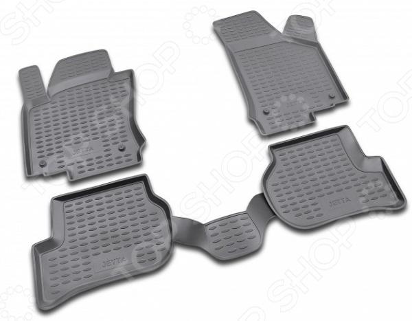 Комплект ковриков в салон автомобиля Novline-Autofamily Volkswagen Jetta 2005Коврики в салон<br>Комплект ковриков в салон автомобиля Novline Autofamily Volkswagen Jetta 2005 поможет обеспечить чистоту и комфортные условия эксплуатации вашего автомобиля. Используйте эти коврики, чтобы защитить оригинальное покрытие пола от грязи, пыли, пятен и воздействия влаги. Изделия созданы из экологически чистого полимерного материала, прошедшего строгий гигиенический контроль. Оцените основные преимущества полиуретановых ковриков Novline:  Нейтральность к агрессивному воздействую различных химических сред.  Высокая устойчивость к значительным перепадам температур в диапазоне от -50 до 50 C .  Устойчивость к воздействию ультрафиолетовых лучей.  Значительно легче резиновых аналогов. Легко очищаются от грязи, обладают повышенной износостойкостью.  Свойства материала и текстура поверхности коврика обеспечивают противоскользящий эффект.  Форма ковриков разработана с учетом особенностей конкретной марки и модели автомобиля применяется технология 3D-сканирования для максимальной точности , что избавляет владельца от необходимости их подгонки под салон своей машины. Коврики надежно фиксируются на своих местах и не смещаются.  Передняя часть водительского ковра имеет специальную форму, исключающую зацепление педали за изделие.<br>