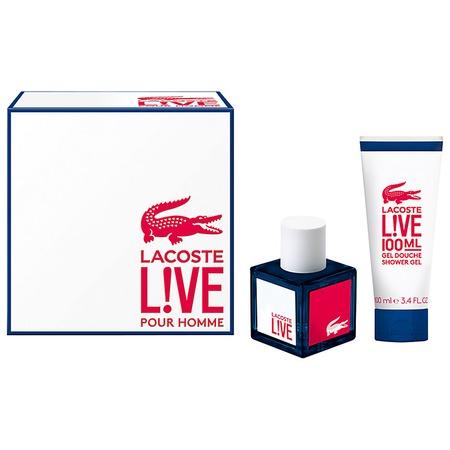 Купить Набор мужской: туалетная вода и гель для душа Lacoste Live, 100 мл