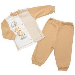 Купить Пижама IDEA KIDS «Весёлые полосатики». Цвет: бежевый