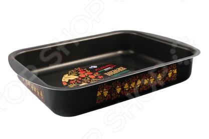 Форма для выпечки металлическая Flonal «Хохлома»Металлические формы для выпечки и запекания<br>Форма для выпечки металлическая Flonal Хохлома атрибут для приготовления всевозможной выпечки для праздников. Это объемная форма из высококачественного металла со специальным покрытием, не вступает в реакцию с продуктами, а так же не влияет на запах и вкус готового изделия. Прослужит вам долго и качественно, сохраняя свой прекрасный внешний вид.<br>