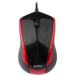 Купить Мышь A4Tech N-400-2 Red-Black USB