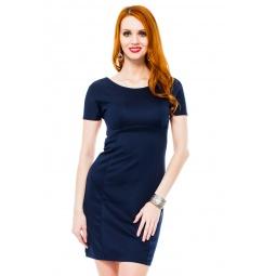 фото Платье Mondigo 8665. Цвет: темно-синий. Размер одежды: 48