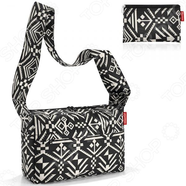 Сумка складная Reisenthel Mini Maxi Citybag HopiСумки для покупок<br>Сумка складная Reisenthel Mini Maxi Citybag Hopi прекрасно подойдет для шопинга и прогулок по городу. Модель достаточно вместительна и практична в использовании, отличается хорошим качеством пошива и стильным элегантным дизайном. Сумка выполнена из высокопрочного полиэстера и снабжена молниевой застежкой, боковыми карманами и широким плечевым ремнем. Главной особенностью модели является то, что, при необходимости, ее можно легко упаковать в ее же собстевенный внутренний карман.<br>