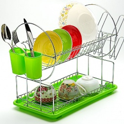 фото Сушилка для посуды Mayer&Boch Compact. Цвет: зеленый