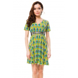 фото Платье Mondigo 8647. Цвет: желтый. Размер одежды: 44