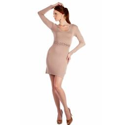 фото Платье Mondigo 9766. Цвет: карамельный. Размер одежды: 44
