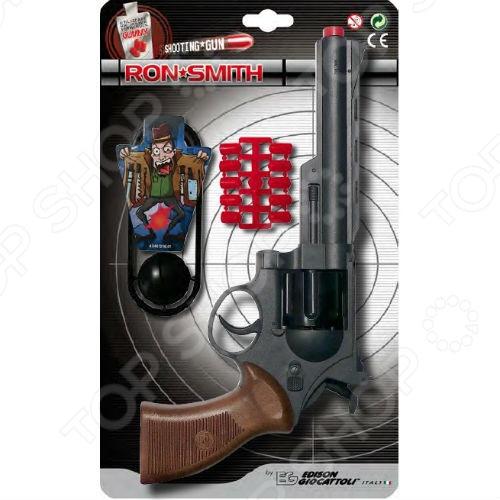 Пистолет с пульками и мишенью Edison Champions-Line Ron Smith edison игрушечный набор с пистолетом мишенями и пульками target line santa f