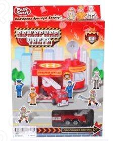 Набор игровой для мальчика Shantou Gepai «Гараж. Пожарная часть» набор игровой для мальчика poli средний трек с умной машинкой