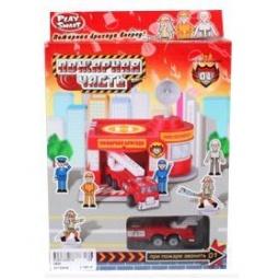 фото Набор игровой для мальчика Shantou Gepai «Гараж. Пожарная часть»