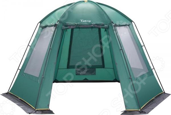 Палатка Greenell Тетра тент-беседка, которая позволяет обеспечить комфортный отдых на даче или в лесу. Стенки из антимоскитной сетки дублируются непромокаемой тканью, что гарантирует защиту от насекомых и дождя. Особенности конструкции:  проклеенные швы;  ветрозащитная юбка;  противомоскитная сетка.
