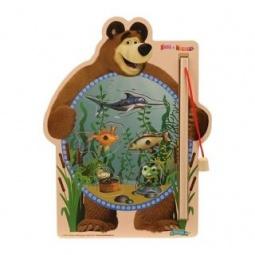 фото Игра развивающая для малыша Маша и Медведь «Рыбалка с магнитами»