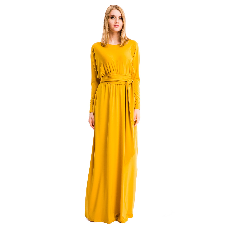 f82e763fc6097 Платье Mondigo 7027. Цвет: горчичный. Размер одежды: 48 купить по ...
