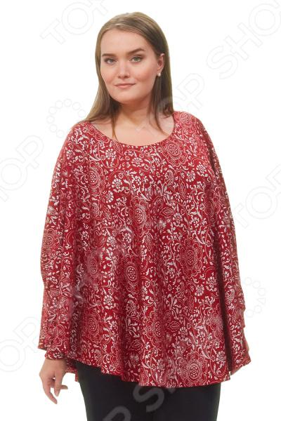 Пончо Матекс «Зарияна». Цвет: бордовыйВерхняя одежда<br>Пончо Матекс Зарияна разработано с учетом особенностей женской фигуры. Свободный силуэт и грамотный крой делают его красивой и универсальной одеждой на все случаи жизни. Изделие прекрасно впишется в ваш повседневный гардероб.  Мягкое теплое пончо с оригинальным узором.  Круглый вырез горловины подчеркнет красоту вашей шеи.  Длинные рукава летучая мышь с манжетами. Пончо сшито из приятной ткани, состоящей на 100 из полиэстера. Материал не линяет, не скатывается, формы от стирки не теряет.<br>