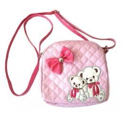 фото Сумочка детская Shantou Gepai «Мишки». Цвет: розовый