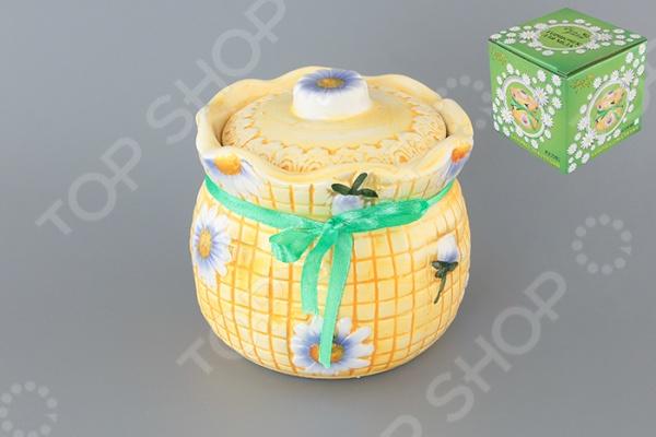 фото Горшочек для меда Elan Gallery «Ромашки на оранжевом», Банки для мёда. Розетки