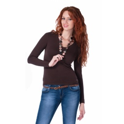 фото Джемпер Mondigo 9131. Цвет: коричневый. Размер одежды: 42