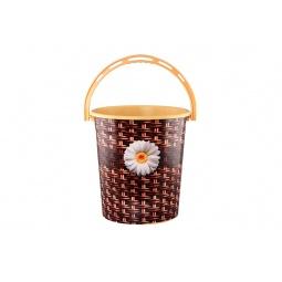 Купить Ведро круглое Violet 0112БК «Плетенка»