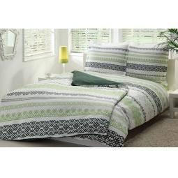 фото Комплект постельного белья TAC Syedra. Семейный. Цвет: зеленый