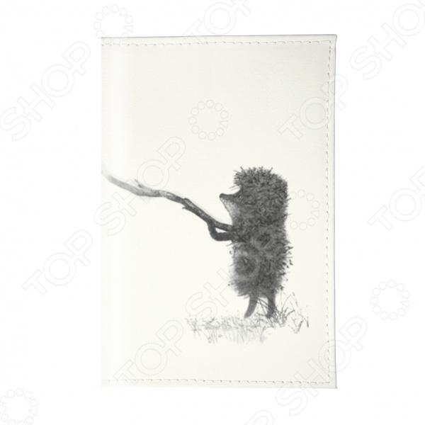 Обложка для паспорта Mitya Veselkov «Ежик с веточкой» обложка для паспорта mitya veselkov ежик ночью