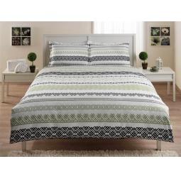 фото Комплект постельного белья TAC Syedra. 1,5-спальный. Цвет: зеленый