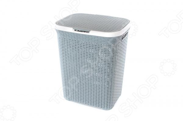 Корзина для белья с крышкой Violet 1840 Ротанг - удобная и практичная модель, имеет привлекательный вид и фактуру, напоминающую ротанг. Такая корзина станет незаменима в любой ванной комнате, она отлично подходит для хранения белья перед стиркой. Корзина оснащена отверстиями, что создает идеальные условия для проветривания. Стильная и качественная корзина отлично впишется в интерьер любой ванной комнаты.