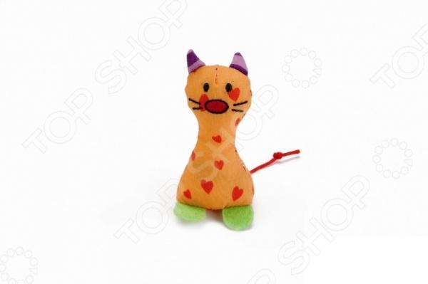 Игрушка для кошек Beeztees «Рыжий котик» комплекс для кошек угловой с полками лестницей и канатом beeztees 405770