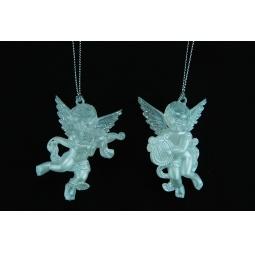 Купить Елочное украшение Crystal Deco «Ангелочек с музыкальным инструментом». В ассортименте