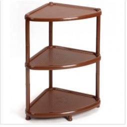 фото Этажерка угловая IDEA М 2751. Цвет: коричневый. Количество полок: 3