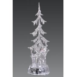 фото Декорация с подсветкой Holiday Classics «Елка со снеговичком и подарками»