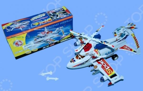 Самолет игрушечный со световыми эффектами Dyna Hawhgx 1707151