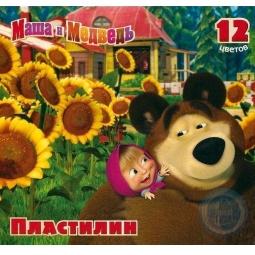 фото Набор пластилина Росмэн «Маша и Медведь»: 12 цветов