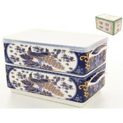 Купить Набор блюд для холодца Elan Gallery «Павлин синий»