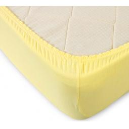 фото Простыня ТексДизайн на резинке. Цвет: желтый. Размер простыни: 90х200 см