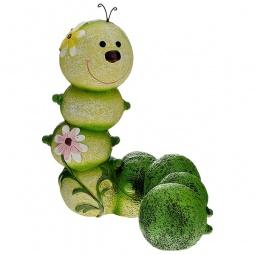 Купить Фигурка садовая GREEN APPLE GA200-14 «Гусеница»