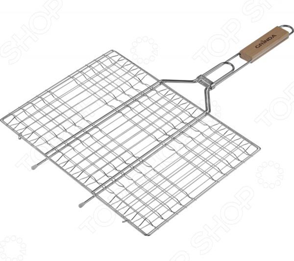 Решетка-гриль плоская Grinda Barbecue 424733 решетка гриль grinda barbecue 170x85mm 424730