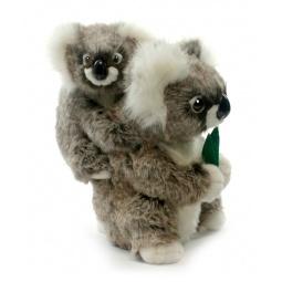 фото Мягкая игрушка для ребенка Hansa «Коала с детенышем»