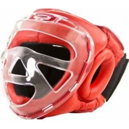 фото Шлем боксерский с защитной маской Larsen PS-832. Материал: натуральная кожа