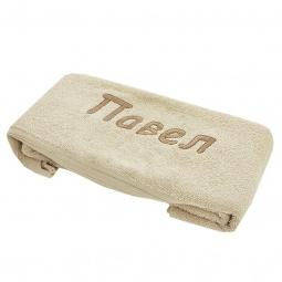 фото Полотенце подарочное с вышивкой TAC Павел. Цвет: бежевый