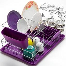 фото Сушилка для посуды Mayer&Boch Compact. Цвет: фиолетовый