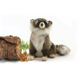 фото Мягкая игрушка Hansa «Енот сидящий»