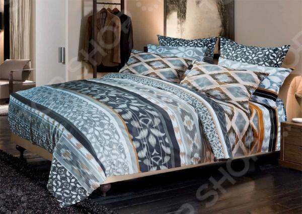 Комплект постельного белья Primavelle «Этниш». 2-спальный2-спальные<br>Комплект постельного белья Primavelle Этниш это незаменимый элемент вашей спальни. Человек треть своей жизни проводит в постели, и от ощущений, которые вы испытываете при прикосновении к простыням или наволочкам, многое зависит. Чтобы сон всегда был комфортным, а пробуждение приятным, мы предлагаем вам этот комплект постельного белья. Приятный цвет и высокое качество комплекта гарантирует, что атмосфера вашей спальни наполнится теплотой и уютом, а вы испытаете множество сладких мгновений спокойного сна. В качестве сырья для изготовления этого изделия использованы нити хлопка. Натуральное хлопковое волокно известно своей прочностью и легкостью в уходе. Волокна хлопка состоят из целлюлозы, которая отлично впитывает влагу. Хлопок дышит и согревает лучше, чем шелк и лен. Поэтому одежда из хлопка гарантирует владельцу непревзойденный комфорт, а постельное белье приятно на ощупь и способствует здоровому сну. Не забудем, что хлопок несъедобен для моли и не деформируется при стирке. За эти прекрасные качества он пользуется заслуженной популярностью у покупателей всего мира. Комплект постельного белья выполнен из ткани бязь. Бязь это одна из самых популярных тканей. Постоянному спросу на такую ткань способствует то, что на протяжении многих лет она остается незаменимой в производстве постельного белья, медицинской одежды, мужских сорочек и даже детских пеленок. Это объясняется уникальными свойствами такой ткани: гладкая и приятная на ощупь, но в то же время очень прочная и стойкая к многочисленным стиркам. Комплект из бязи прослужит очень долго, если соблюдать простые рекомендации. Необходимо стирать при температуре 40 , используя порошок для цветного белья. Не применять хлорсодержащие средства и отбеливатели. Желательно выворачивать белье наизнанку перед стиркой. Гладить при помощи утюга с функцией подачи пара или через влажную ткань.<br>
