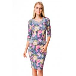 фото Платье Mondigo 5130. Цвет: джинсовый. Размер одежды: 44